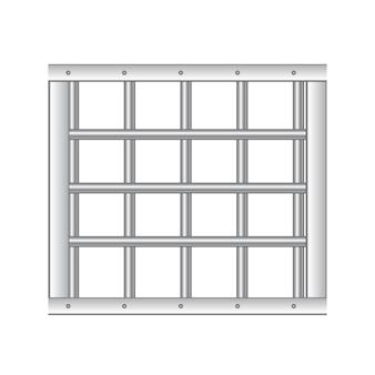 Barras de prisão de aço realista 3d.