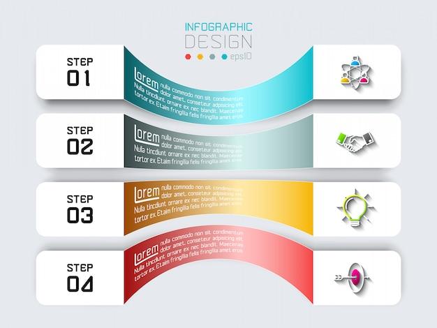 Barras horizontais com infográficos de negócios.