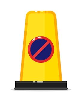 Barreira de aviso na estrada sem sinal de caminho