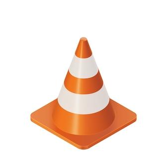 Barreira de cones de trânsito