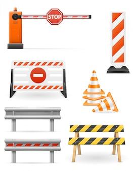 Barreiras rodoviárias para restringir o transporte de tráfego