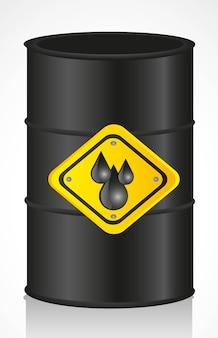 Barril de óleo isolado