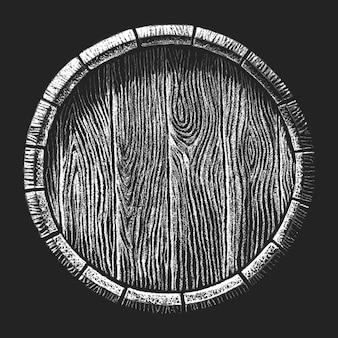 Barril desenhado no quadro-negro
