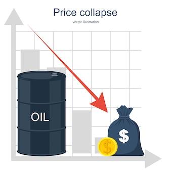 Barris de óleo com moedas de ouro