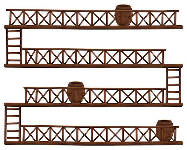Barris em diferentes andares