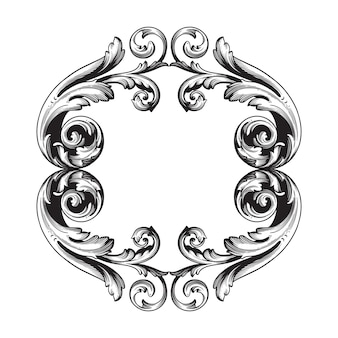 Barroco clássico de elemento vintage. caligrafia de filigrana de elemento de design decorativo.