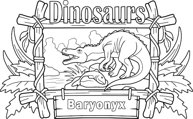 Baryonyx de dinossauro