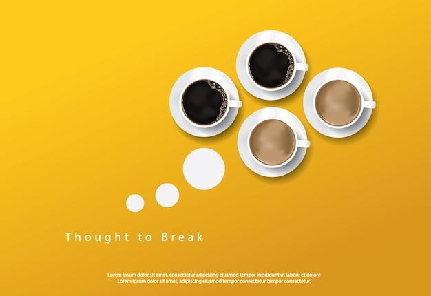 Base para propaganda de pôster de café
