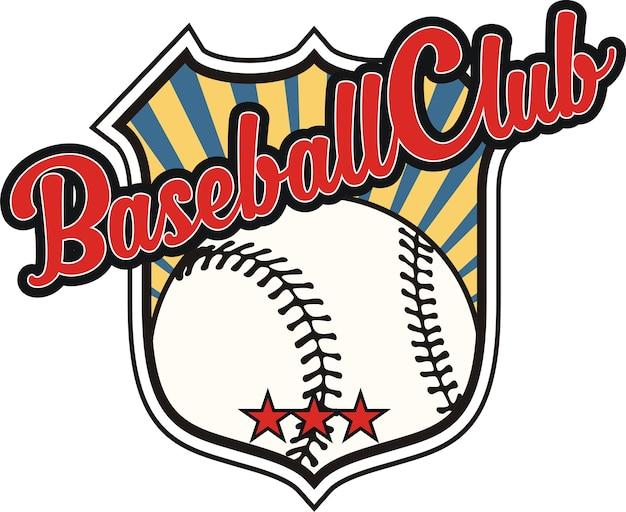 Baseball com elementos de design de escudo