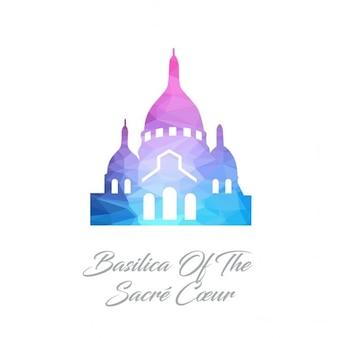 Basílica do logotipo do polígono sacre coeur