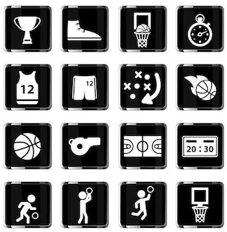 Basquete simplesmente símbolo para ícones da web