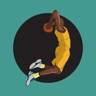 Basquete slam dunk