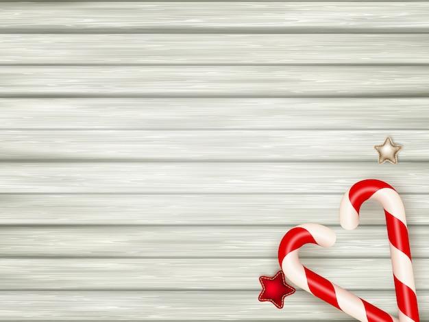 Bastões de doces de natal.