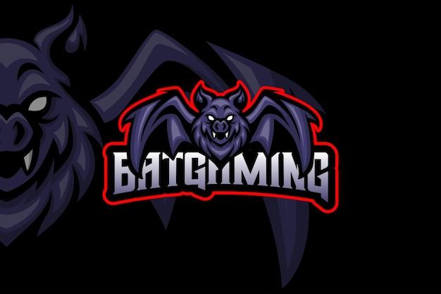 Bat gaming - modelo de logotipo esport