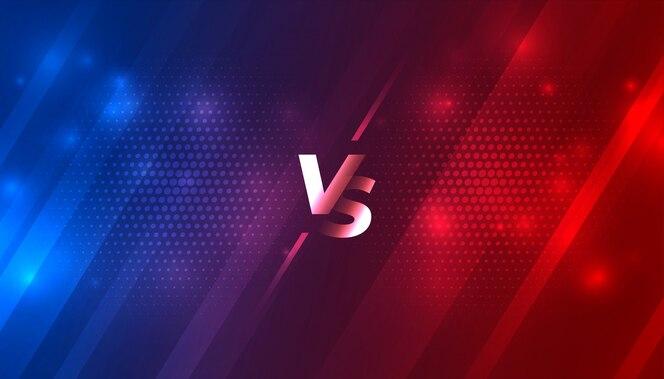 Batalha contra vs fundo para jogo de esportes