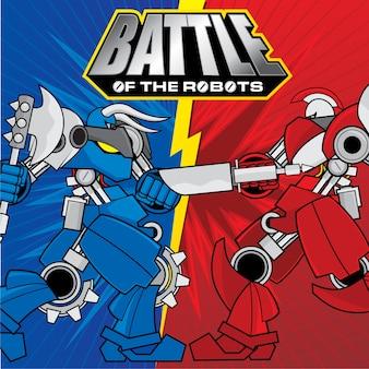 Batalha do projeto do fundo dos robôs