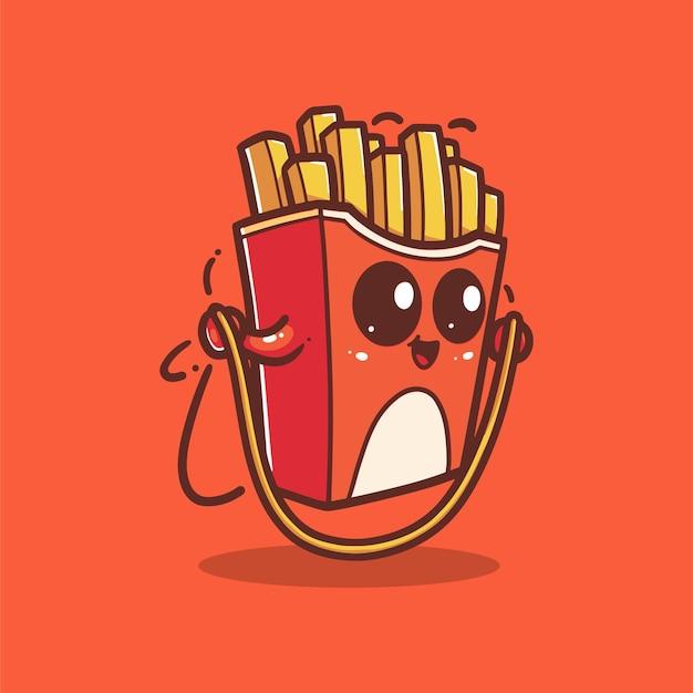 Batatas fritas estão pulando corda