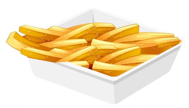 Batatas fritas no disco