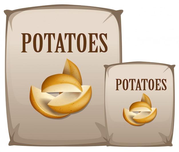 Batatas no saco