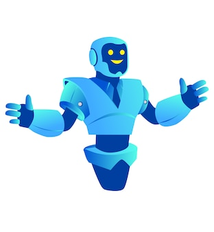Bate-papo bot. robot supporter chatbot negócio de assistente virtual