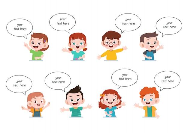 Bate-papo de balão de discurso de crianças