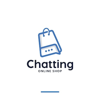 Bate-papo, loja online, inspiração para o design de logotipo
