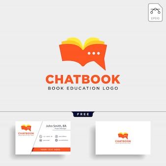 Bate-papo ou logotipo do livro de mensagens