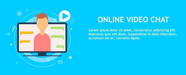 Bate-papo por vídeo on-line com o homem