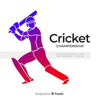 Batedor moderno jogando críquete