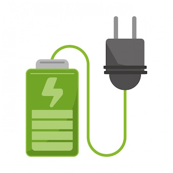Bateria de energia ecológica com ficha