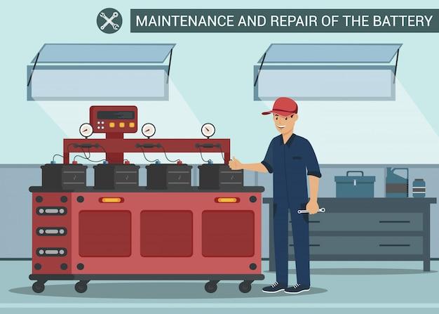 Bateria de manutenção e reparo