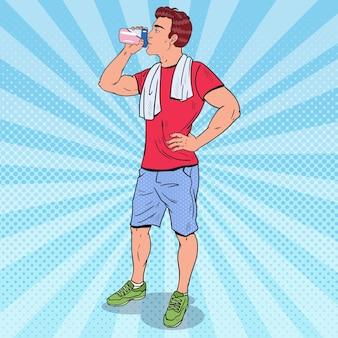 Batido de proteína para homem musculoso