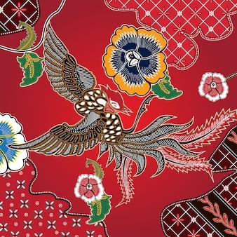 Batik de combinação indonésio