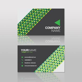 Batik étnico verde do cartão de visita