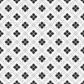Batik geométrico sem costura de fundo padrão. papel de parede clássico em tecido. decoração étnica elegante
