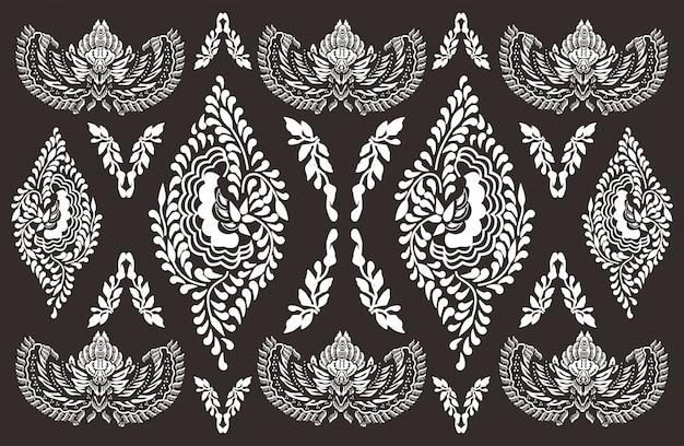 Batik motif indonésio, desenhos especiais que são padronizados