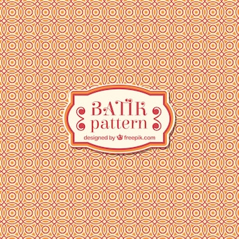 Batik padrão ornamental