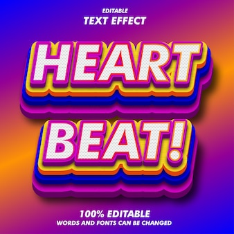 Batimento cardiaco! efeitos de texto