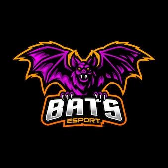 Bats mascote logo esport gaming Vetor Premium