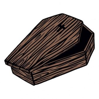 Baú de madeira de drácula