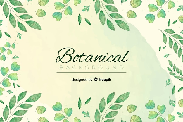 Bckground botânica vintage