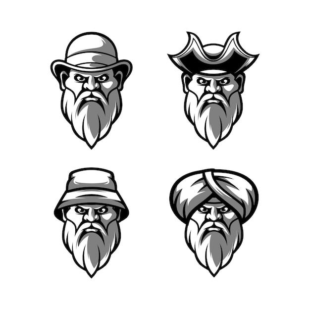 Beardy preto e branco