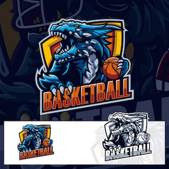 Beast basketball godzilla sport logo