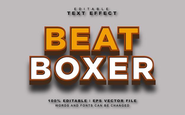 Beat boxer text effect vector grátis