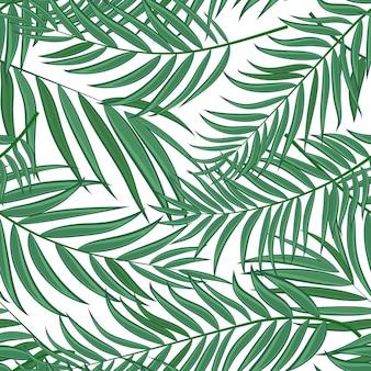 Beautifil folha de palmeira silhueta sem costura padrão de fundo ilustração vetorial eps10