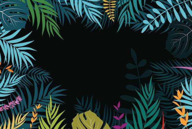 Beautifil palm tree folha silhueta