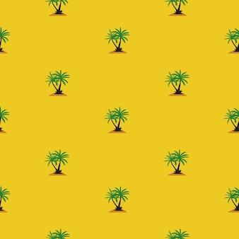 Beautifil palmeira folha silhueta sem costura de fundo.