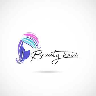 Beauty hair care logo design