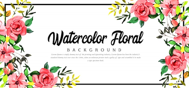 Beautyful fundo floral aquarela