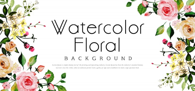 Beautyful fundo floral aquarela